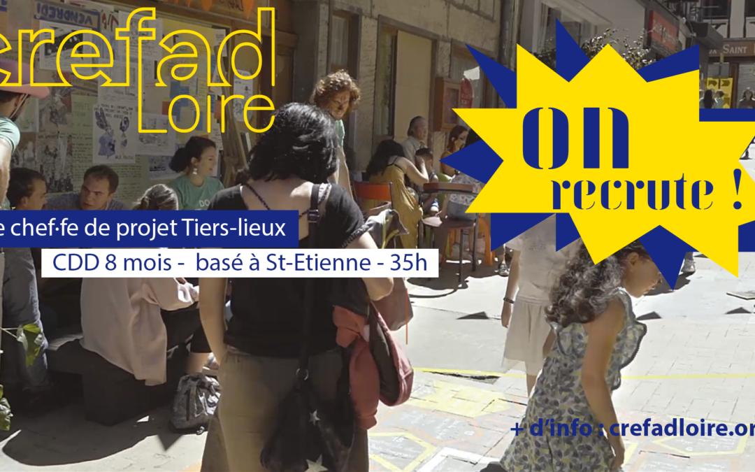 Le CREFAD Loire recrute un·e chef·fe de projet Tiers-lieux