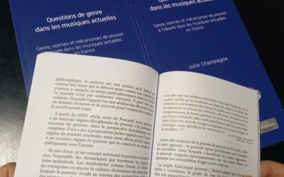 L'ouvrage «Questions de genre dans les musiques actuelles en France» vient de paraître !!